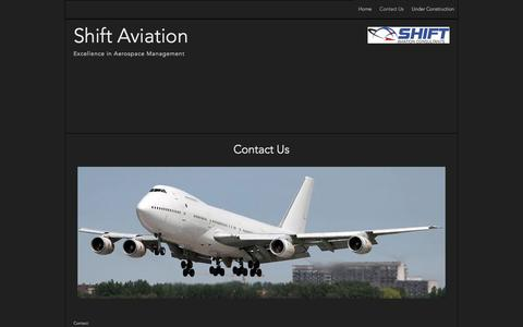 Screenshot of Contact Page shiftaviation.com - Contact Us | Shift Aviation - captured Oct. 29, 2014