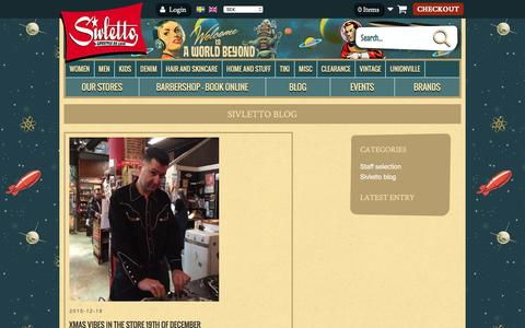 Screenshot of Blog sivletto.com - Sivletto - clothes and stuff for a lifestyle deluxe - rockabilly and beyond - captured Jan. 12, 2016