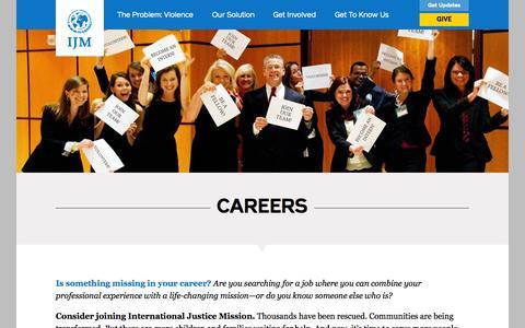 Screenshot of Jobs Page ijm.org - Careers | International Justice Mission - captured Sept. 19, 2014