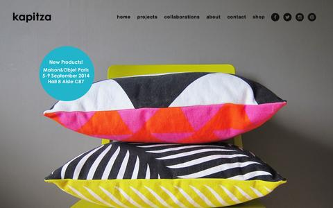 Screenshot of Home Page kapitza.com - kapitza | colour and pattern - captured Sept. 30, 2014