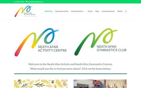 Screenshot of Home Page neath-afan-gymnastics.com - Neath Afan - Neath Afan Activity Centre - captured Oct. 20, 2018