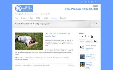 Screenshot of Blog 888bailbond.com - California Bail Blog from 888BailBond.com | California Bail Bonds - captured Oct. 3, 2014