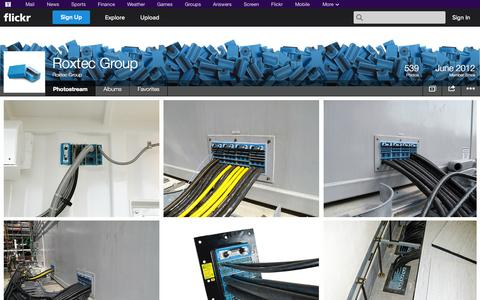 Screenshot of Flickr Page flickr.com - Flickr: Roxtec Group's Photostream - captured Oct. 25, 2014