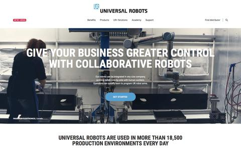 Collaborative Industrial Robotic robot Arms | Cobots from Universal Robots