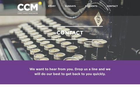 Screenshot of Contact Page ccm.org.uk - CONTACT - Christ Church Manchester - captured Nov. 5, 2016