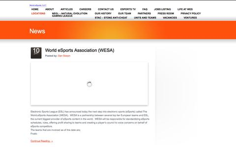 LOCATIONS «  World eSports, LLC