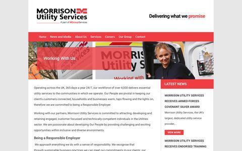 Screenshot of Jobs Page morrisonus.com - Working With Us - captured Oct. 18, 2018