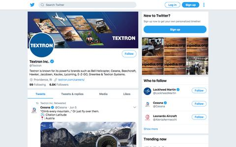 Tweets by Textron Inc. (@Textron) – Twitter