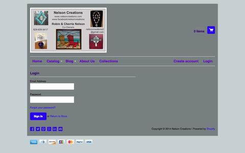 Screenshot of Login Page nelsoncreations.com - Account – Nelson Creations - captured Sept. 30, 2014