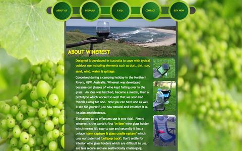 Screenshot of About Page winerest.com - About Us - captured Oct. 1, 2014