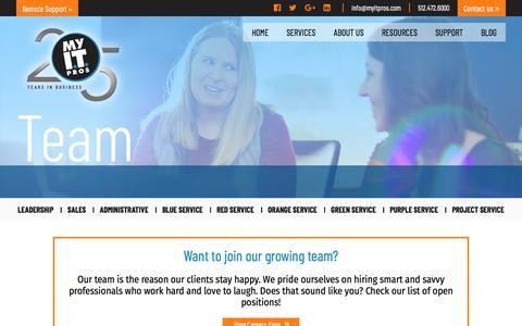Screenshot of Team Page myitpros.com - Meet Our Austin IT Services Management Team   MyITpros - captured Sept. 20, 2018