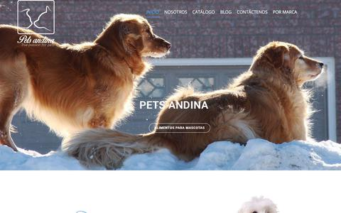 Screenshot of Home Page petsandina.co - PETS ANDINA - Comida Para Mascotas - captured July 29, 2017