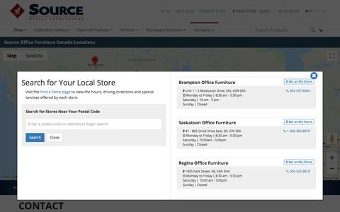 Screenshot of Contact Page source.ca - Contact Source Office Furniture   Customer Service - captured Sept. 2, 2019