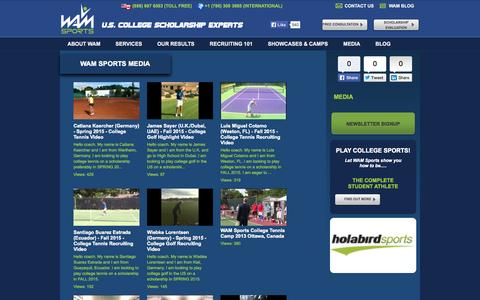 Screenshot of Press Page wamsports.com - Media | WAM Sports - captured Oct. 8, 2014