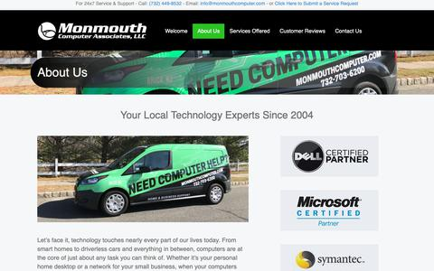 Screenshot of About Page monmouthcomputer.com - About Us | NJ Computer Repair | Business IT Support and Solutions | Technology Support | Monmouth Computer Associates - captured Dec. 10, 2018