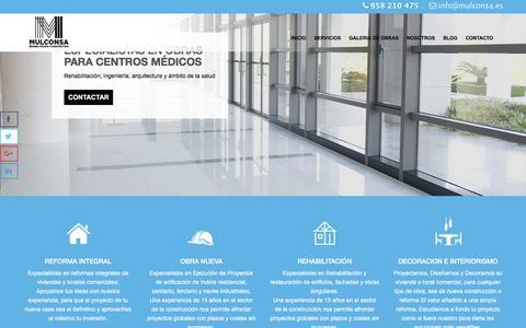 Screenshot of Home Page mulconsa.es - Inicio - mulconsa.es - captured Feb. 16, 2016
