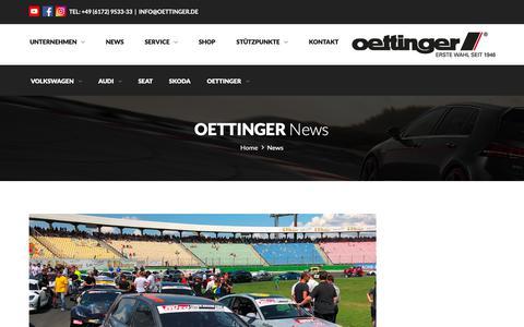 Screenshot of Press Page oettinger.de - News   OETTINGER- OETTINGER SPORTSYSTEMS GMBH - captured Oct. 15, 2018