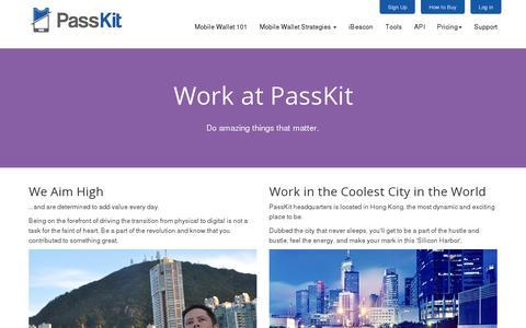Screenshot of Jobs Page passkit.com - Careers - PassKit - captured July 18, 2014