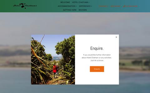 Screenshot of Home Page hotelchatham.co.nz - Hotel Chatham | Chatham Island Accommodation and Activities - captured June 30, 2018