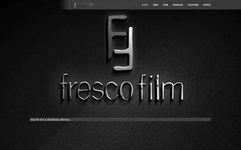 Screenshot of Home Page frescofilm.com - Frescofilm Services - captured Sept. 19, 2014