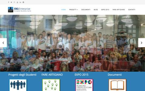 Screenshot of Home Page enterprise-ebg.eu - Enterprise-EBG  - HOME - captured May 4, 2016