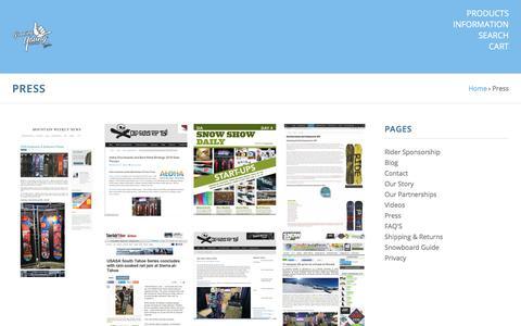 Screenshot of Press Page alohaproducts.com - Press - captured July 29, 2018