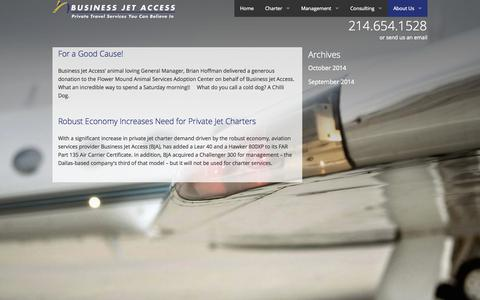 Screenshot of Press Page businessjetaccess.com - News - captured Oct. 29, 2014