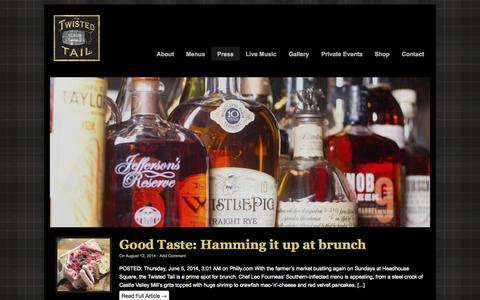Screenshot of Press Page thetwistedtail.com - Press - The Twisted Tail - captured Oct. 9, 2014