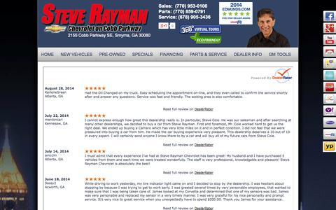 Screenshot of Testimonials Page steverayman.com captured Oct. 7, 2014