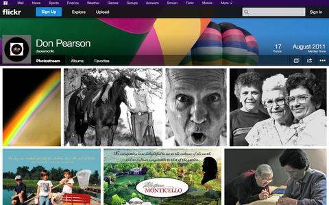 Screenshot of Flickr Page flickr.com - Flickr: dspearsonllc's Photostream - captured Oct. 23, 2014