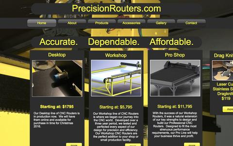 Screenshot of Home Page precisionrouters.com - precisionrouters - captured May 19, 2017