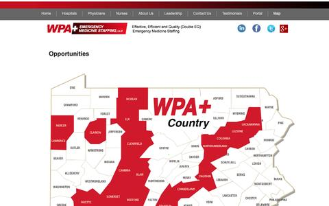 Screenshot of Maps & Directions Page wpamedstaffing.com - Map - captured Nov. 30, 2016