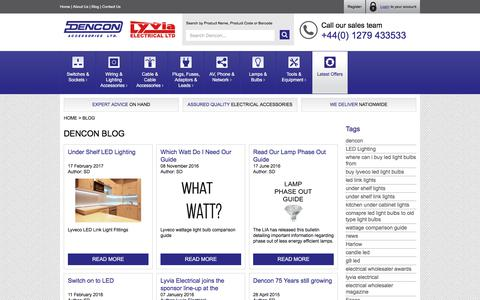 Screenshot of Blog dencon.co.uk - Dencon Accessories - Blog - captured Oct. 12, 2017