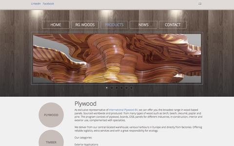 Screenshot of Products Page rg-woods.com - RG Woods  |  Plywood - captured Sept. 26, 2014
