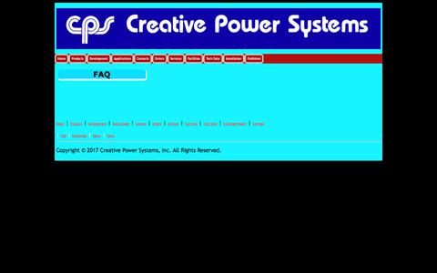 Screenshot of FAQ Page creativepowersystems.net - Creative Power Systems - captured July 23, 2018