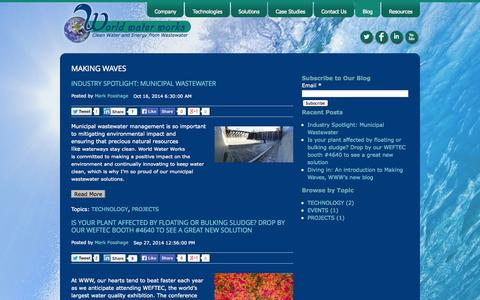 Screenshot of Blog worldwaterworks.com - Blog - captured Nov. 3, 2014
