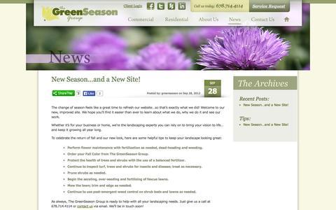 Screenshot of Press Page greenseasongroup.com - News | Green Season Group - captured Oct. 1, 2014