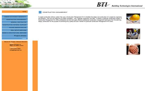 Screenshot of Team Page btigroup.net - BTI: Construction Management - captured Oct. 5, 2014