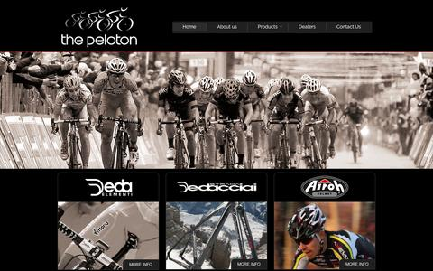Screenshot of Home Page thepeloton.co.za - The Peloton | Cycling Company | Cycling Systems - captured Oct. 9, 2014