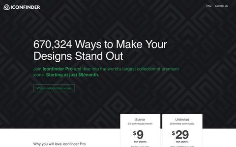 Screenshot of FAQ Page iconfinder.com - Iconfinder Pro - captured Nov. 17, 2015