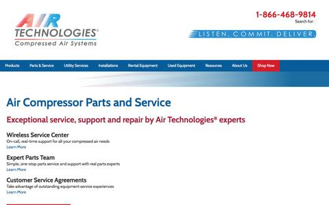 Air Compressor Parts and Service | Air Technologies®