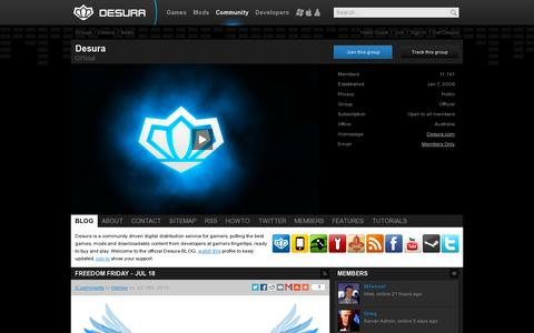 Screenshot of Blog desura.com - News - Desura | Desura - captured July 21, 2014