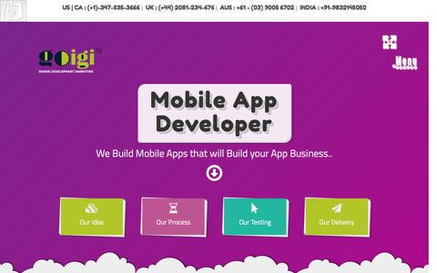 Screenshot of Developers Page goigi.com - Hire App Developers for Mobile Apps – Android, IOS, Windows - captured Dec. 28, 2016