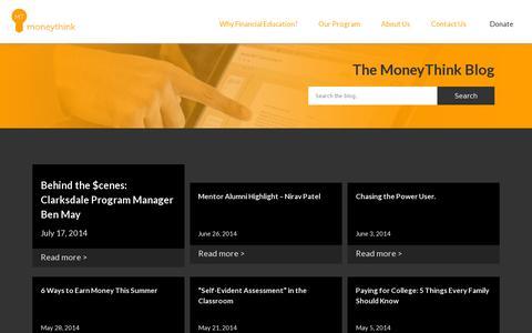 Screenshot of Blog moneythink.org - Blog | Moneythink : Moneythink - captured July 20, 2014