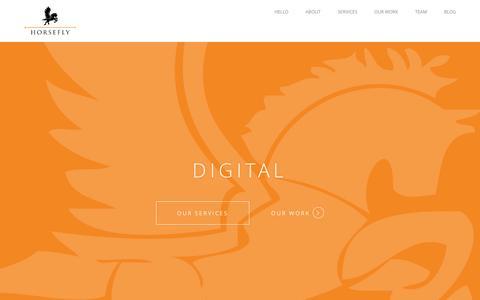 Screenshot of Home Page horseflygroup.com - Dynamic Advertising + Digital Marketing Agency | Horsefly Group - captured Jan. 26, 2015