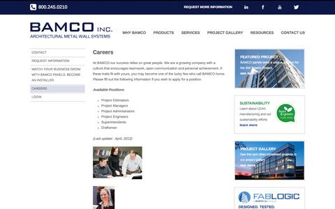 Screenshot of Jobs Page gobamco.com - Careers - BAMCO Inc. - captured Oct. 3, 2014