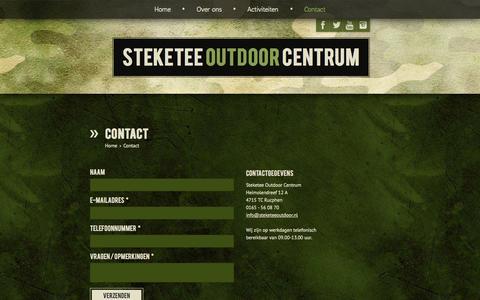 Screenshot of Contact Page steketeeoutdoor.nl - Steketee Outdoor Centrum - Contact - captured Oct. 7, 2014