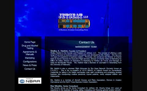 Screenshot of Contact Page jetseatllc.com - Contact Us - captured Sept. 30, 2014