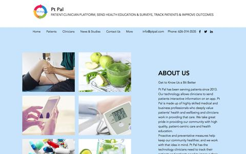 Screenshot of About Page ptpal.com - About Us   Pt Pal - captured July 12, 2018