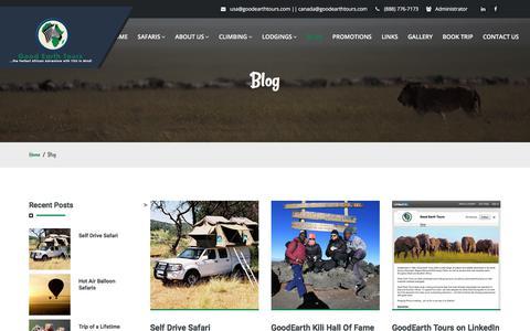 Screenshot of Blog goodearthtours.com - Good Earth Tours :: Africa Safari| Tanzania Safari| Zanzibar Beach | Mountain Kilimanjaro | Kenya Safari | Uganda Safari - captured July 20, 2018